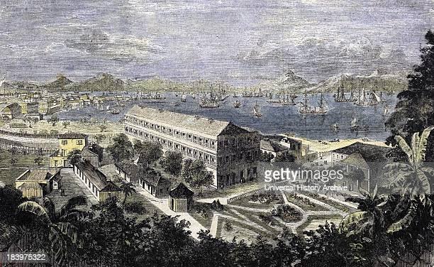 Harbor Of Hong Kong Engraving 1858
