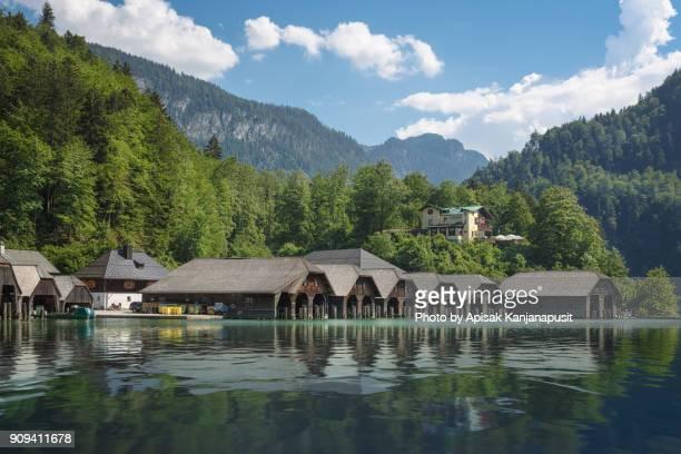 Harbor of Königssee lake, Berchtesgaden, Germany