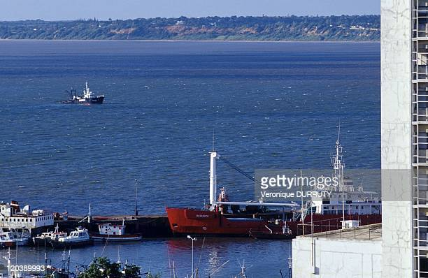 Harbor of Maputo in Mozambique, Africa.