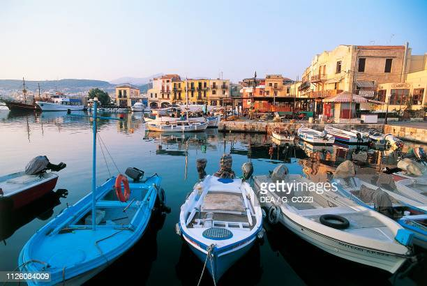 Harbor of Rethymno, Crete Island, Greece.