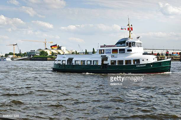 harbor tour by motorboat kirchdorf in hamburg - tourboat stock pictures, royalty-free photos & images