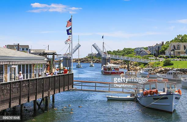 Harbor View, Waterfront Restaraunt and Boats, Perkins Cove, Ogunquit, Maine.