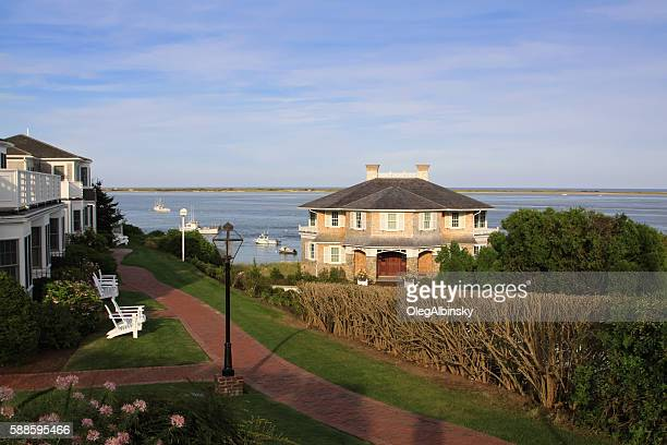 Harbor View with Waterfront Hotels, Chatham, Cape Cod, Massachusetts.