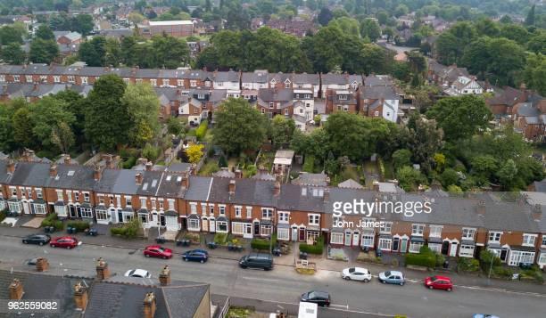 harborne, birmingham aerials. - birmingham uk stock photos and pictures