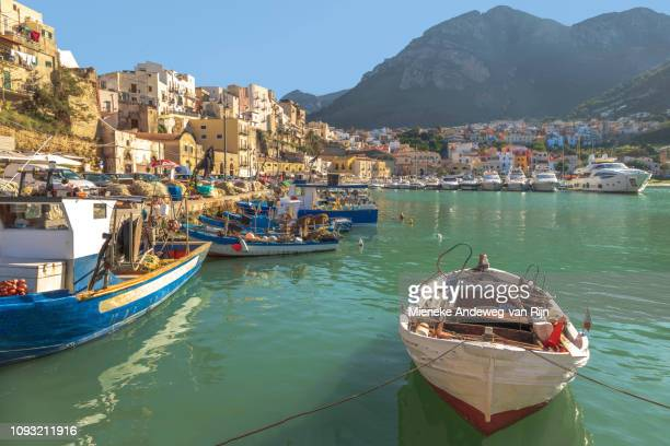 Harbour and Marina in Castellammare del Golfo, Sicly, Italy