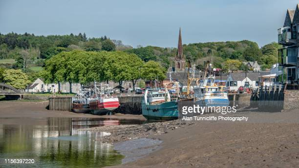 harbour at kirkcudbright - dumfries and galloway stock pictures, royalty-free photos & images