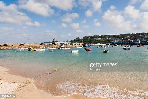 Harbour beach in St Ives on the coast of Cornwall