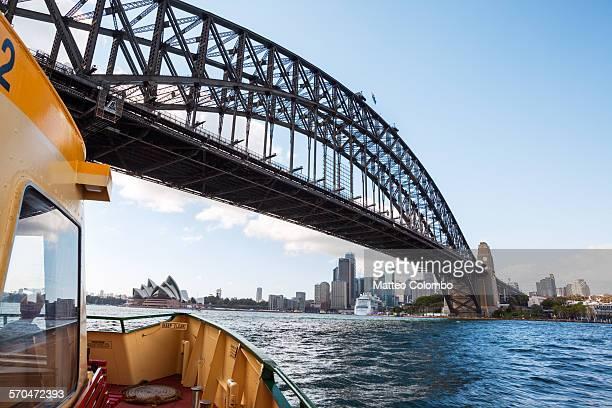 Harbour bridge and Sydney CBD from ferry