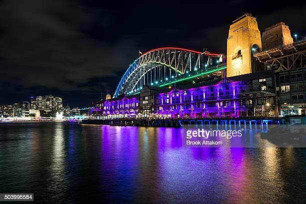 Harbour Bridge on Vivid Sydney Festival