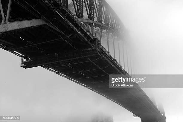 Harbour Bridge with fog cover