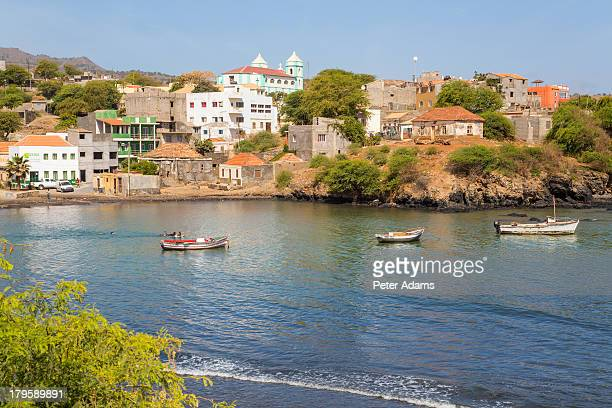 harbour, calheta de sao miguel, santiago island - cabo verde fotografías e imágenes de stock