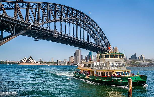 Harbour ferry approaching Milsons Point