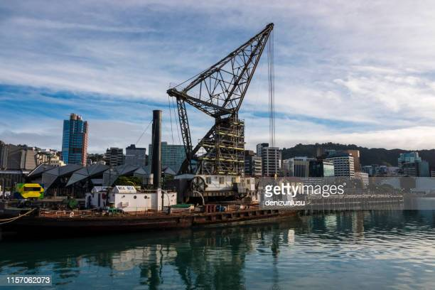 harbour front, wellington, new zealand - wellington new zealand stock pictures, royalty-free photos & images