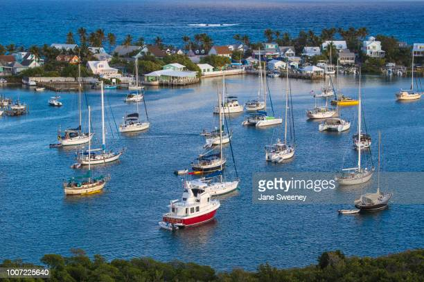 harbour, hope town, elbow cay, abaco islands, bahamas, west indies, central america - abaco islands stock pictures, royalty-free photos & images