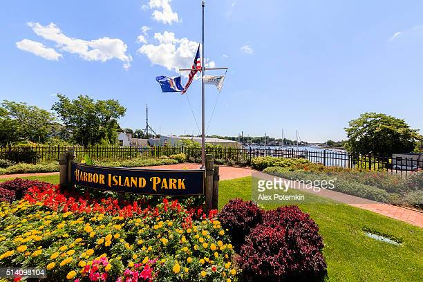 harbour island park of mamaroneck, westchester county, usa - westchester county stock photos and pictures
