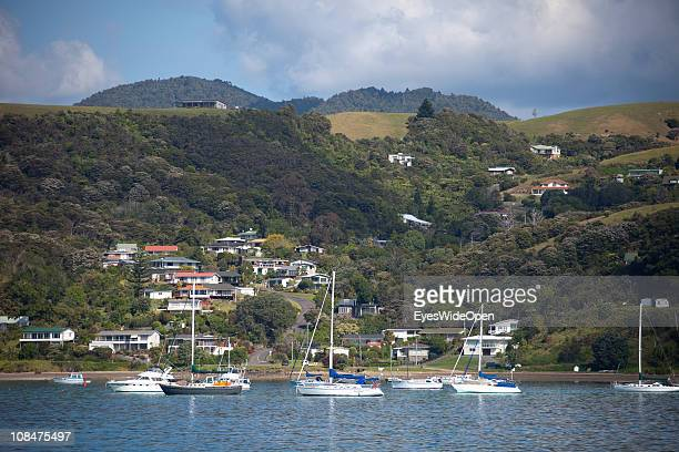 Harbour of Waiheke Island a short trip from Auckland New Zealand on November 29 North Island
