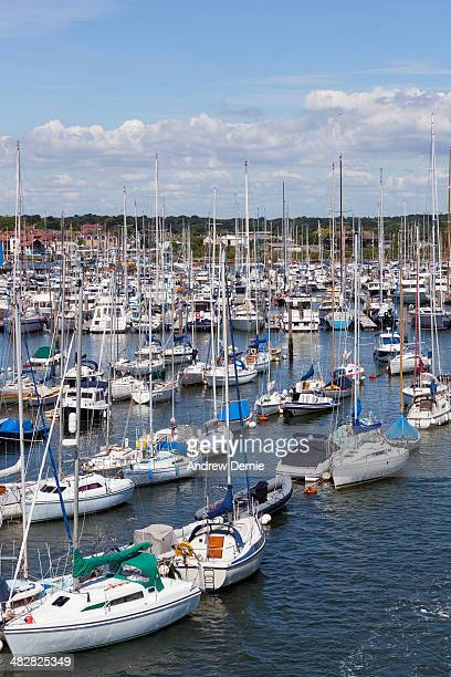 harbour - lymington stock photos and pictures