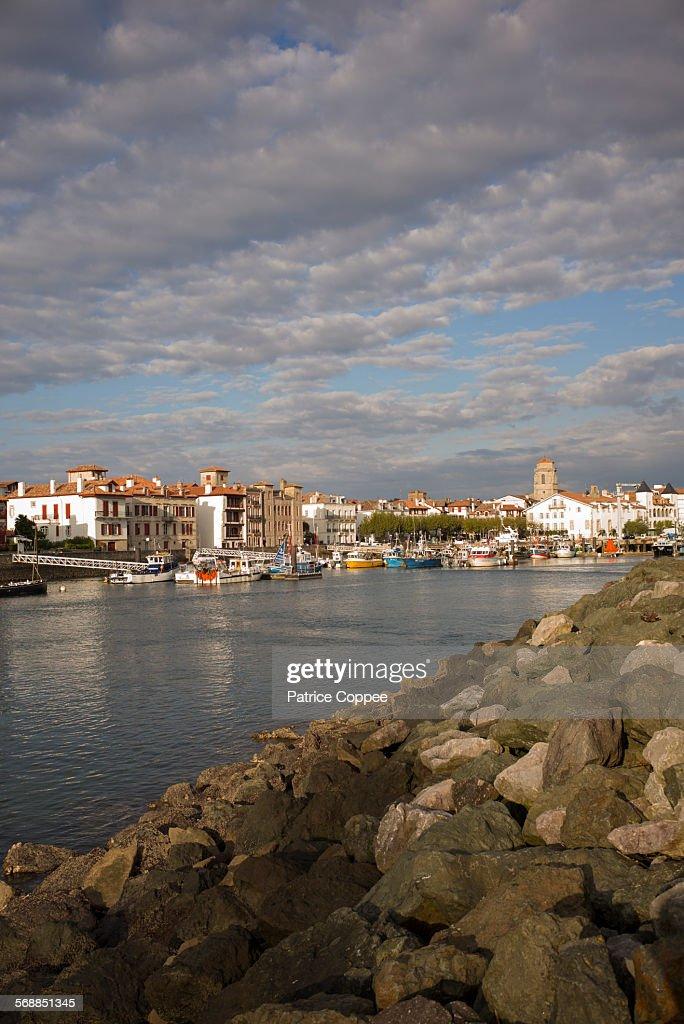 SAINT JEAN DE LUZ: harbour (Pays Basque - France) : Stock Photo