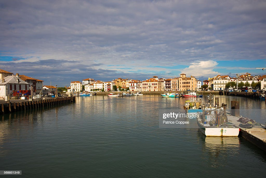 SAINT JEAN DE LUZ: harbour (Pays Basque - France) : Stock Photo