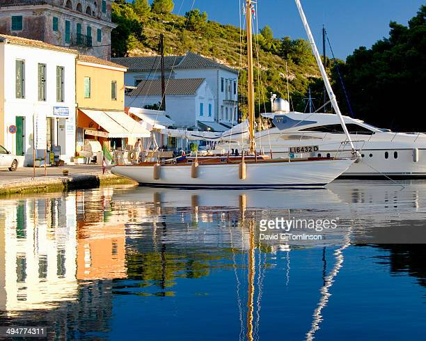 Harbour reflections, sunrise, Gaios, Paxos, Greece