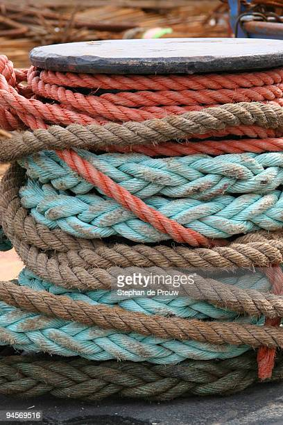 harbour ropes - stephan de prouw stock pictures, royalty-free photos & images