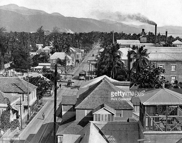 Harbour Street Kingston Jamaica c1905 Photograph from Picturesque Jamaica by Adolphe Duperly Son