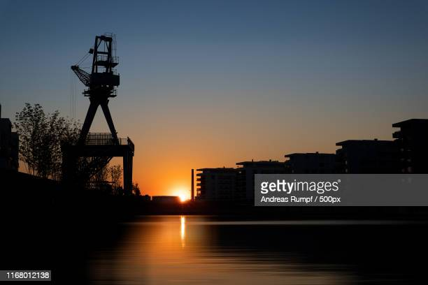 harbour sunset - andreas solar stock pictures, royalty-free photos & images