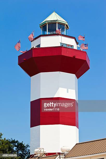 ハーバータウンの灯台でヒルトンヘッド、サウスカロライナ州 - ヒルトンヘッド ストックフォトと画像