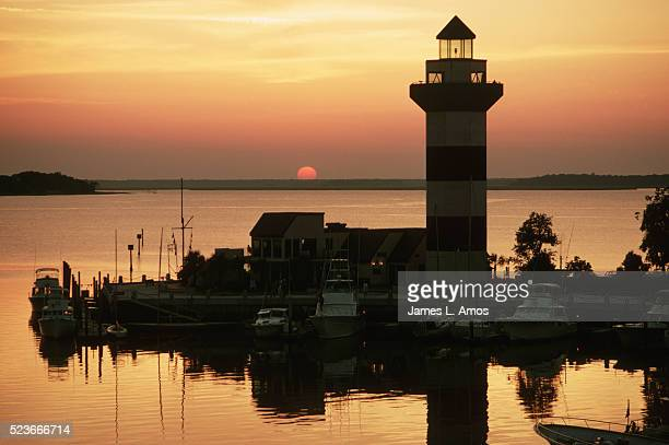 harbour town lighthouse - hilton head stock pictures, royalty-free photos & images