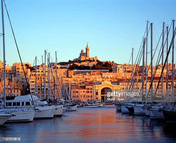 harbour view in marseille - marseille stock pictures, royalty-free photos & images