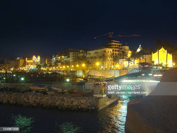 Harbourside Ceuta by night