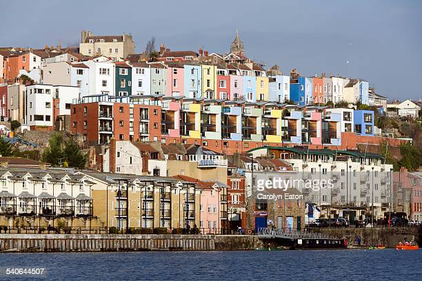 harbourside houses, bristol - bristol stock photos and pictures
