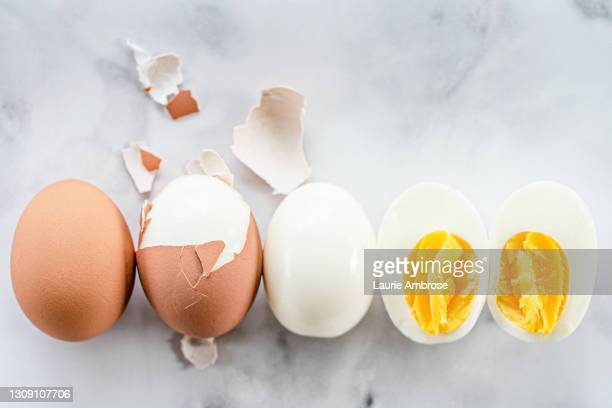 hard boiled egg - animal egg stock pictures, royalty-free photos & images