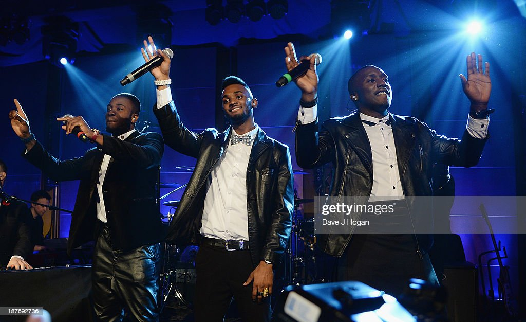 Hard Copy performing at Gary Barlow Hosts BBC Children In Need Gala at The Grosvenor House Hotel on November 11, 2013 in London, England.