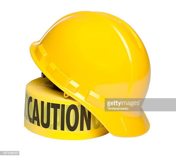 Hard Hat and Caution Tape