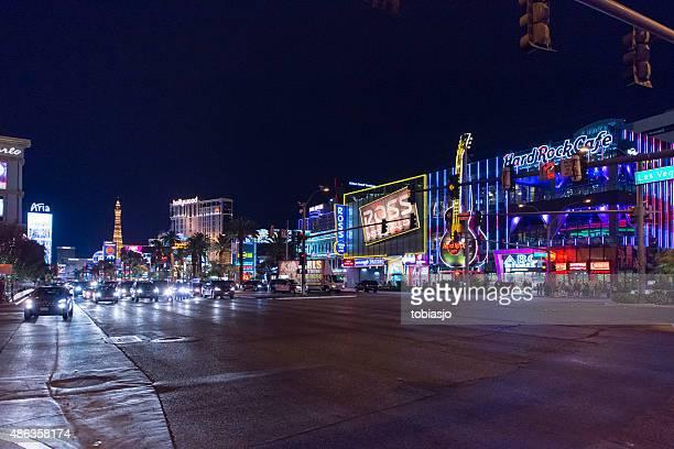 Hard Rock at Las Vegas Strip during night