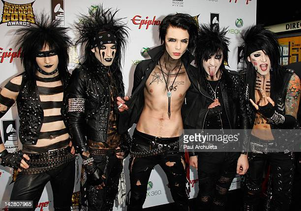 Hard Rock Band Black Veil Brides attends the 4th Annual Revolver Golden God Awards at Club Nokia on April 11 2012 in Los Angeles California