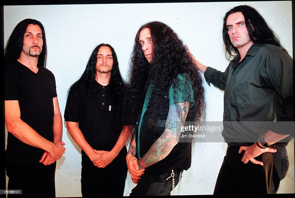 Hard Rock band Type O Negative (L-R) Johnny Kelly, Kenny Hickey, Josh Silver,Peter Steele pose for a portrait in Los Angeles, California on July 25, 1999.