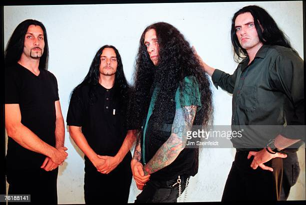 Hard Rock band Type O Negative Johnny Kelly Kenny Hickey Josh SilverPeter Steele pose for a portrait in Los Angeles California on July 25 1999