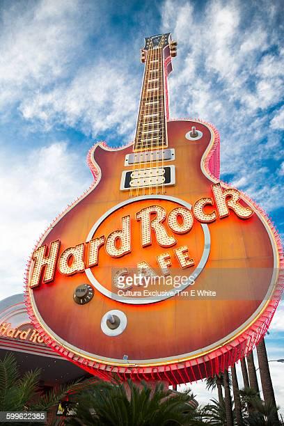 Hard Rock cafe guitar sign, Las Vegas, Nevada, USA