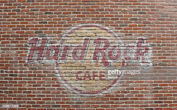Hard Rock Cafe Seattle - brick wall sign