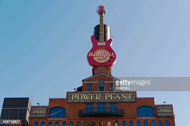 hard rock cafe sign in baltimore, maryland - ogphoto stock pictures, royalty-free photos & images