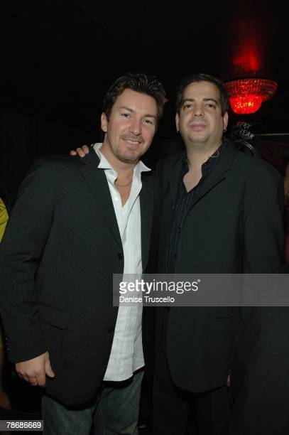 Hard Rock celebrity VIP host Richard Wilk and music producer Tommy Lipnick attend the New Year's Eve 2008 party featuring musical group Backstreet...