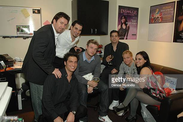 Hard Rock Celebrity VIP Host Richard Wilk Body English managing partner Cory McCormack Mike Meyers Backstreet Boys and Tommy Lipnick attend the New...