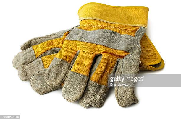 hard work glove - work glove stock photos and pictures