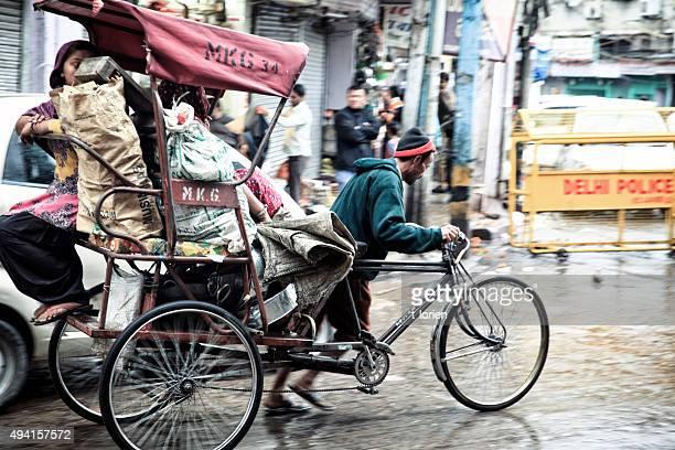 Hard work in Delhi. India.