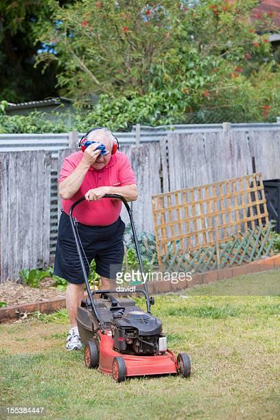 Hard Work Mowing