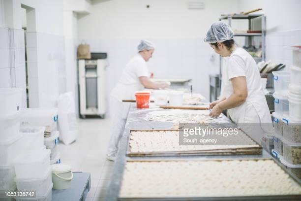 Hard working in bakery