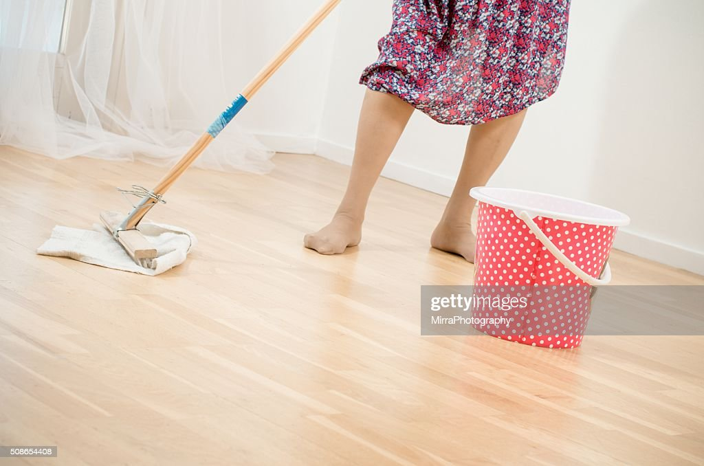 Hard working old lady : Stock Photo