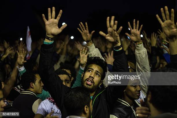 Hardcore fans of Egypt's Zamalek football club hold up flares and chant slogans in Fustat Park Cairo Monday Feb 8 2016 Hundreds of soccer fans held a...